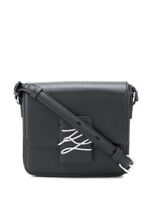 Кожаная сумка через плечо - черная Karl Lagerfeld