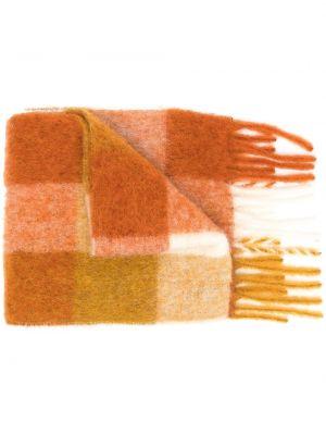 Pomarańczowy szalik wełniany z printem Acne Studios