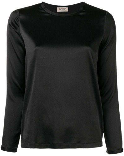 Блузка с длинным рукавом шелковая прямая Blanca