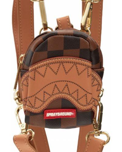 Рюкзак с принтом - золотой Sprayground
