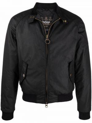 Черная длинная куртка Barbour