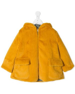 Желтое длинное пальто Owa Yurika