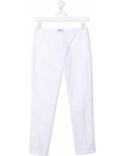 Со стрелками прямые белые брюки Dondup Kids
