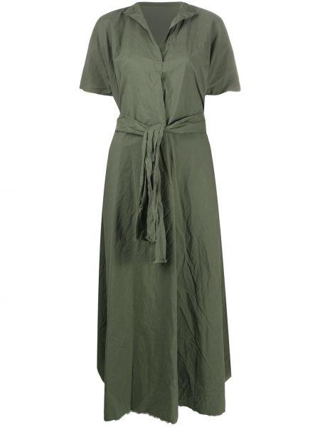 Платье мини на пуговицах свободного кроя с короткими рукавами из поплина Daniela Gregis