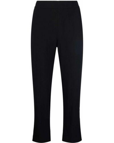 Czarne spodnie z wiskozy Piazza Sempione