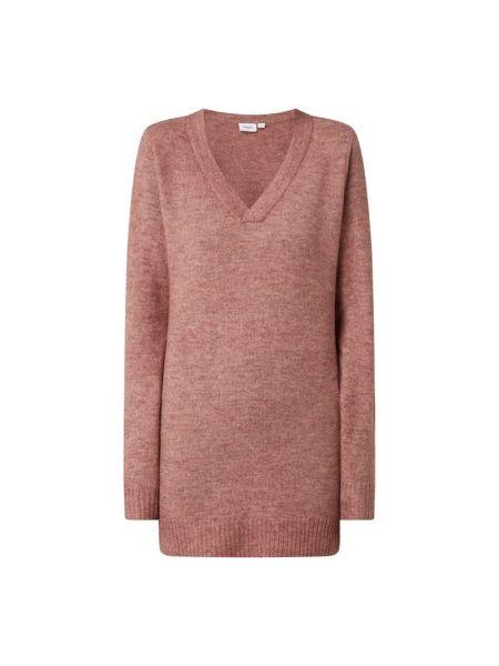 Sweter wełniany - różowy Saint Tropez