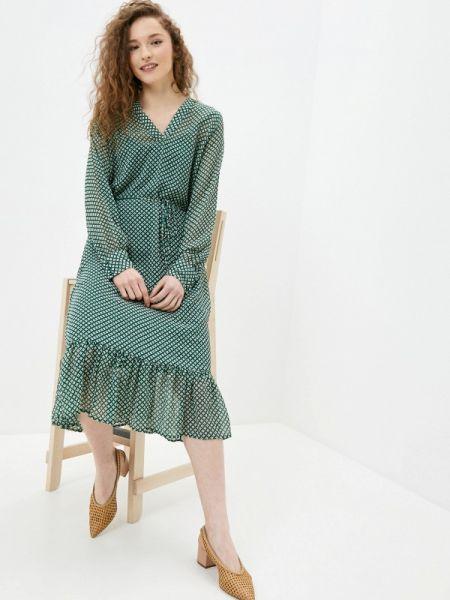 Платье прямое зеленый Ichi