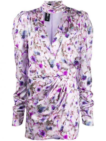 Платье с запахом с цветочным принтом Filles A Papa