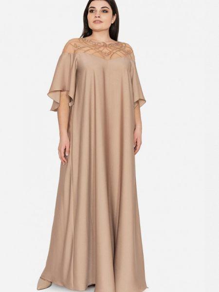 Вечернее платье бежевое Seam
