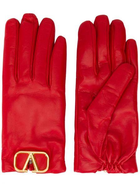 Желтые кожаные перчатки Valentino