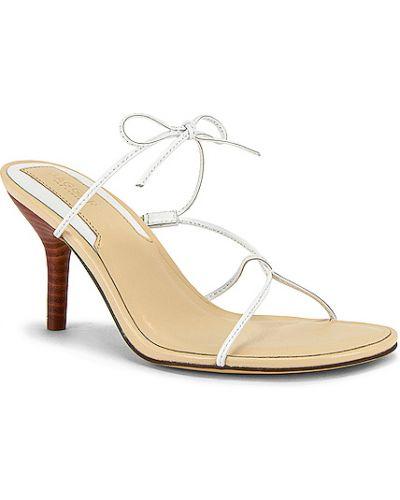 Białe sandały skorzane Jaggar