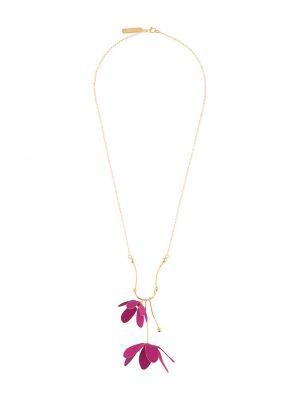 Фиолетовое ожерелье с подвесками Marni
