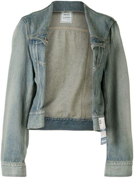 Хлопковая синяя джинсовая куртка свободного кроя Maison Mihara Yasuhiro