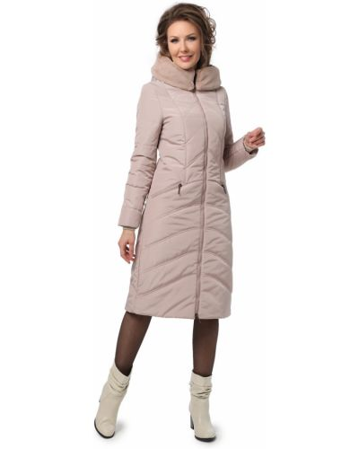 С рукавами длинное пальто с капюшоном из искусственного меха Dizzyway