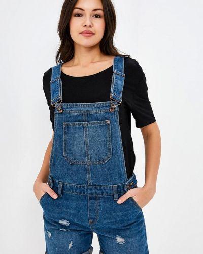 Синий джинсовый комбинезон Modis