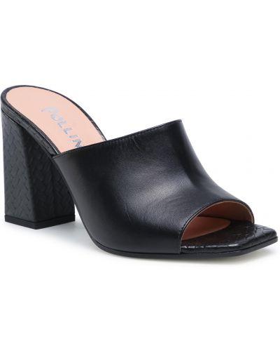 Czarne sandały casual Pollini