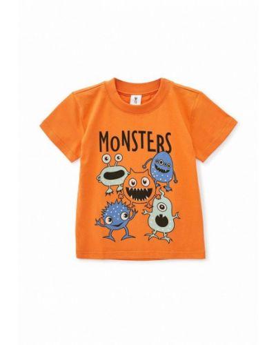 Оранжевая с рукавами футболка Roza