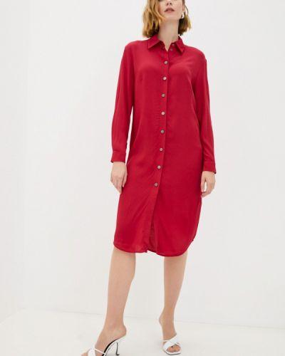 Розовое платье рубашка Raya