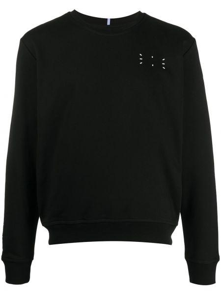 Bawełna czarny bluza z mankietami z długimi rękawami Mcq Alexander Mcqueen