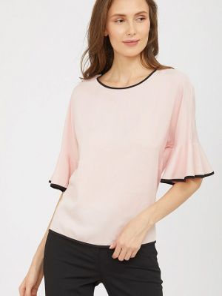 Розовая блузка с коротким рукавом Charuel