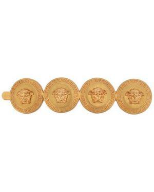 Гипоаллергенная заколка металлическая золотая Versace