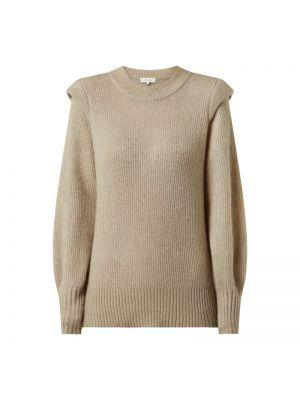 Prążkowany beżowy sweter wełniany Levete Room