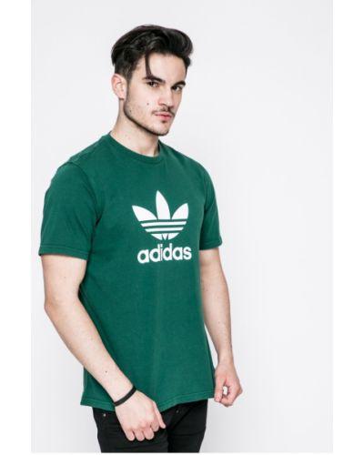 Футболка с принтом хлопковая Adidas Originals
