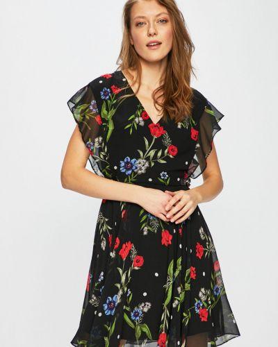Платье мини с оборками с V-образным вырезом Guess Jeans