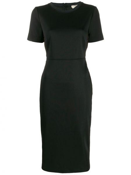 Платье мини шелковое черное Fendi