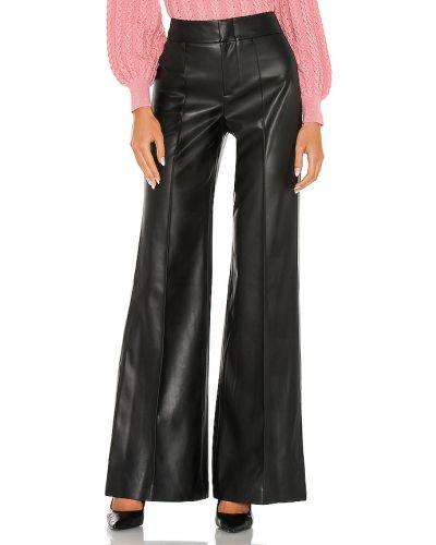 Czarny majtki z kieszeniami wysoki wzrost w połowie kolana Alice + Olivia