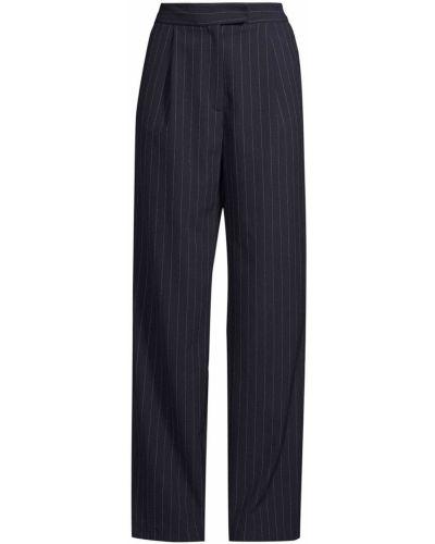 Синие прямые с завышенной талией брюки Nicole Miller