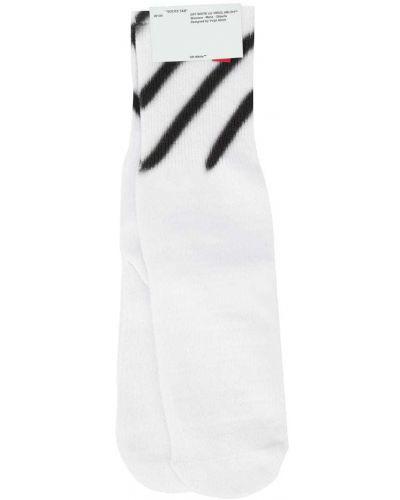 Носки с принтом в рубчик Off-white