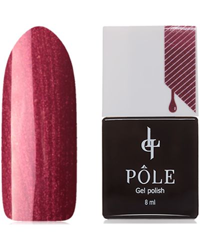 Гель-лак для ногтей красный малиновый Pole