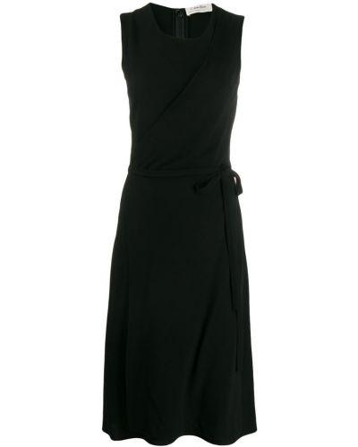 Платье миди с запахом винтажная Calvin Klein