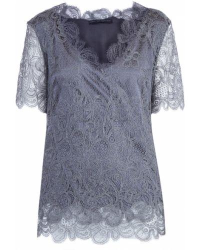 Блузка с коротким рукавом кружевная с цветочным принтом Ermanno Scervino