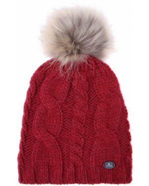 Красная акриловая классическая шапка с помпоном Canadiens