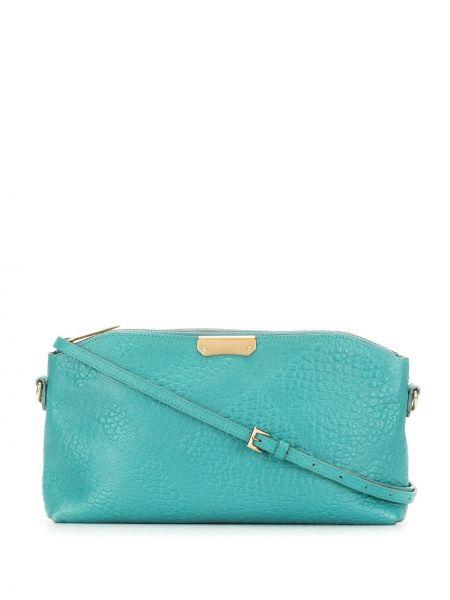 Зеленая сумка на плечо металлическая на молнии с декоративной отделкой Burberry Pre-owned