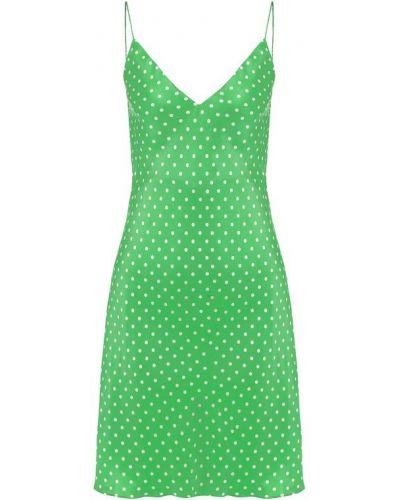 Платье шелковое зеленый Walk Of Shame