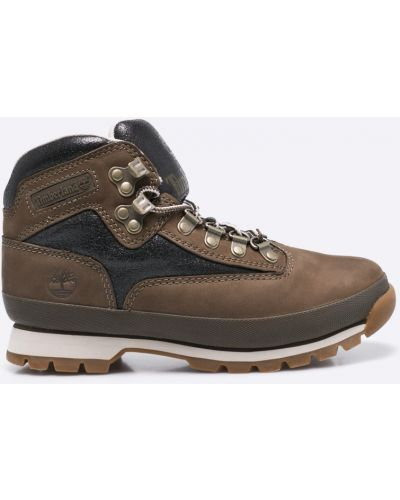 Ботинки на шнуровке кожаные теплые Timberland