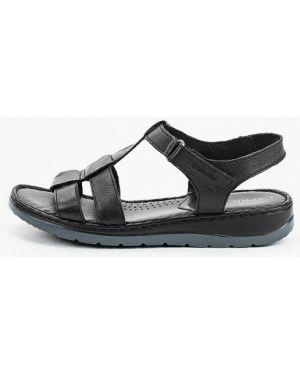 Кожаные черные сандалии Caprice