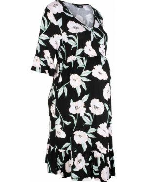 Летнее платье для беременных с запахом Bonprix