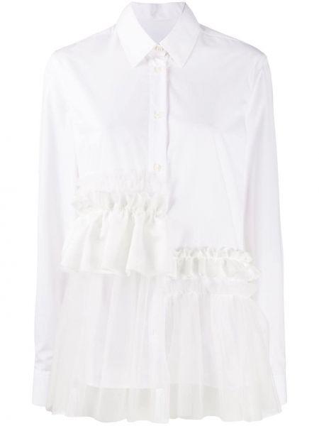 Нейлоновая рубашка с воротником на пуговицах с оборками Viktor & Rolf