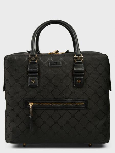 Текстильный чемодан - черный Elisabetta Franchi