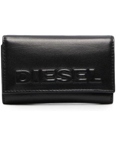 Черный кожаный кошелек с подкладкой Diesel