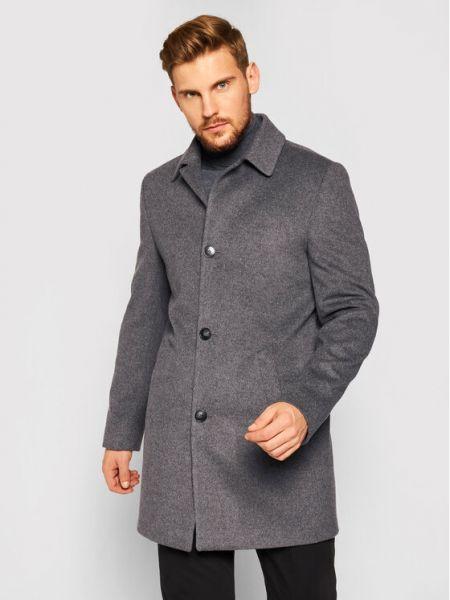 Płaszcz wełniany - szary Roy Robson