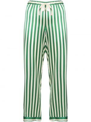 Шелковые брюки - зеленые Morgan Lane