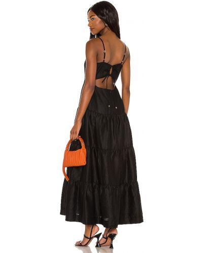 Хлопковое платье макси - черное Karina Grimaldi