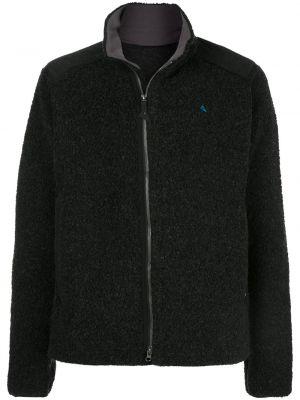 Черный свитер на молнии Klättermusen