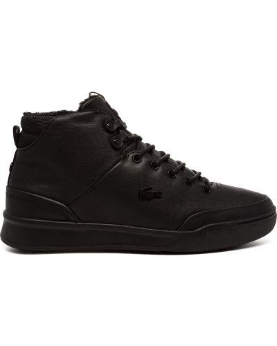 Черные ботинки Lacoste