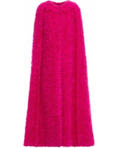 Różowa narzutka wełniana Dolce And Gabbana